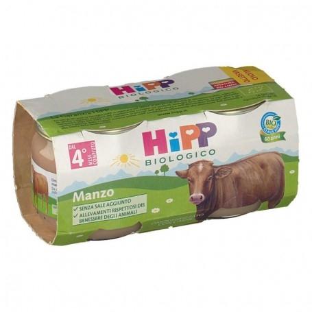 HIPP BIOLOGICO OMOGENEIZZATO MANZO 2X80g