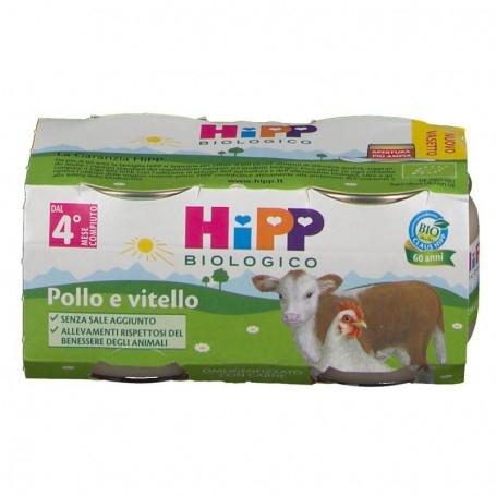 HIPP BIOLOGICO OMOGENEIZZATO VITELLO E POLLO 2x80g