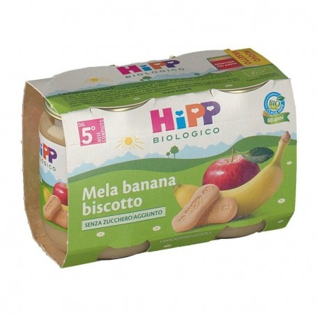 HIPP BIO OMOGENEIZZATO MELA BANANA E BISCOTTO