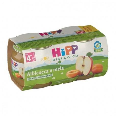 HIPP BIO OMOGENEIZZATO ALBICOCCA E MELA 2x80g