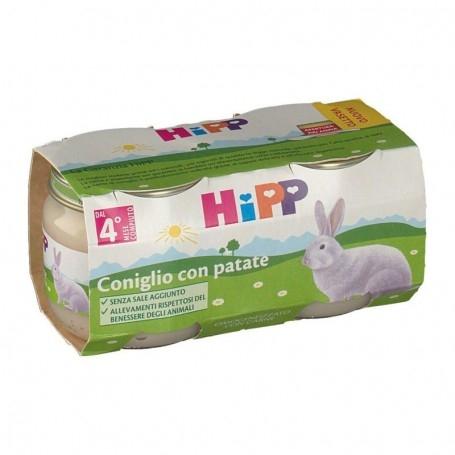 HIPP BIO OMOGENEIZZATO CONIGLIO CON PATATE 2x80g