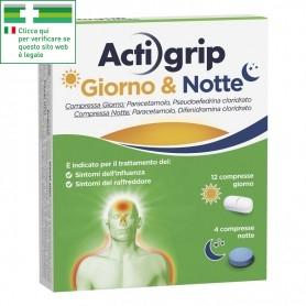 ACTIGRIP GIORNO&NOTTE RAFFREDDORE E INFLUENZA 12+4 COMPRESSE
